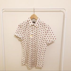 New polka dot button up